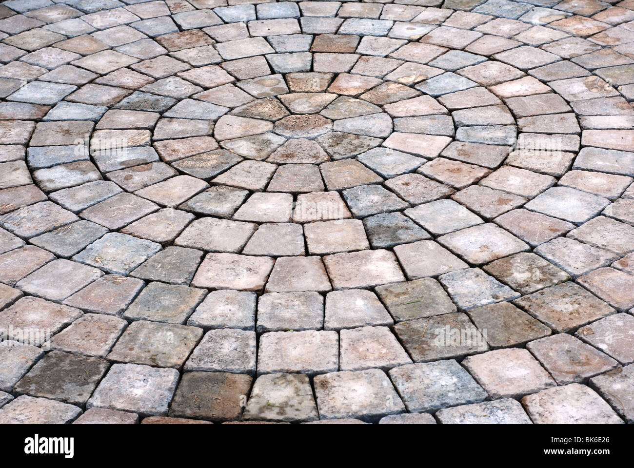 Curved Block Patio Background