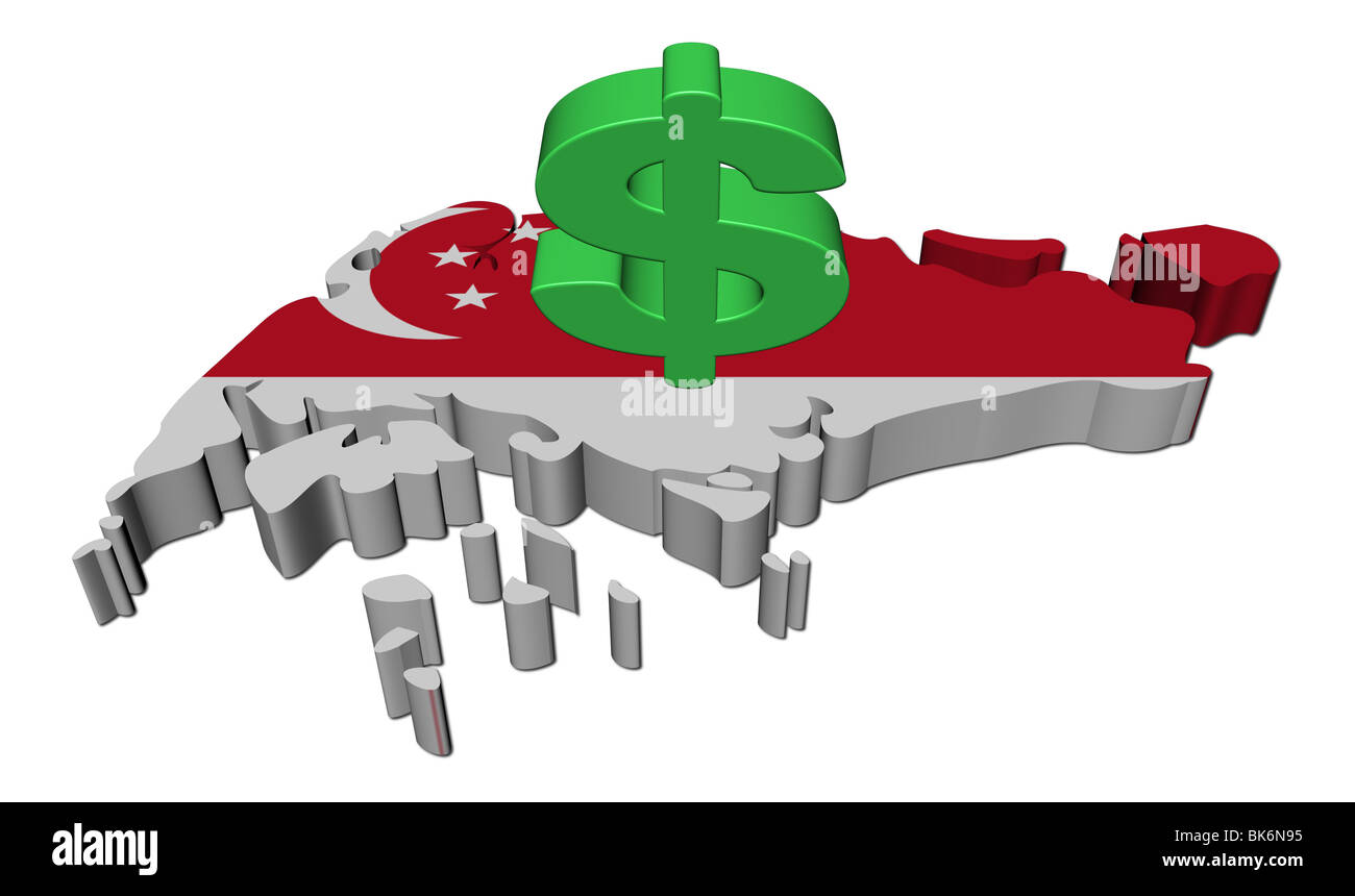 Singapore map flag with dollar symbol illustration stock photo singapore map flag with dollar symbol illustration biocorpaavc