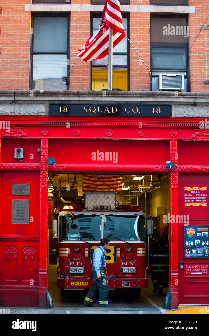Squad 18 new york fire department firehouse west village new york city