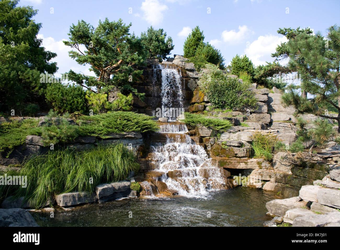 montreal botanical garden alpine garden stock photo. Black Bedroom Furniture Sets. Home Design Ideas