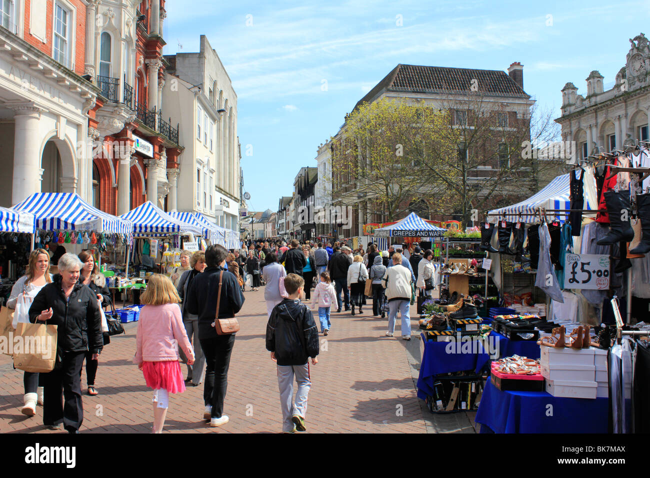 market day ipswich town centre shopping county town of. Black Bedroom Furniture Sets. Home Design Ideas