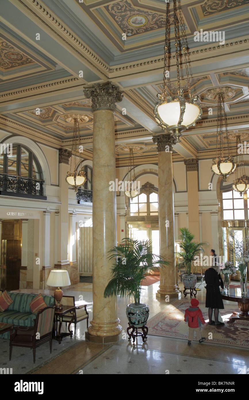 Stock photo washington dc pennsylvania avenue the willard intercontinental hotel luxury historic hotel landmark beaux arts lobby column marb