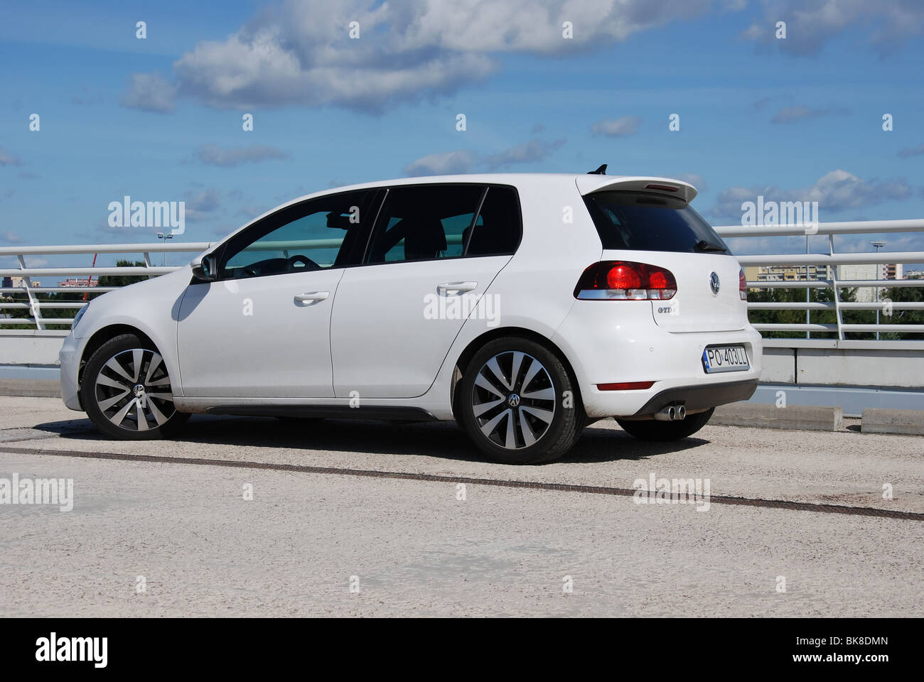 volkswagen golf vi gtd 2009 white five doors 5d german stock photo 29075221 alamy. Black Bedroom Furniture Sets. Home Design Ideas
