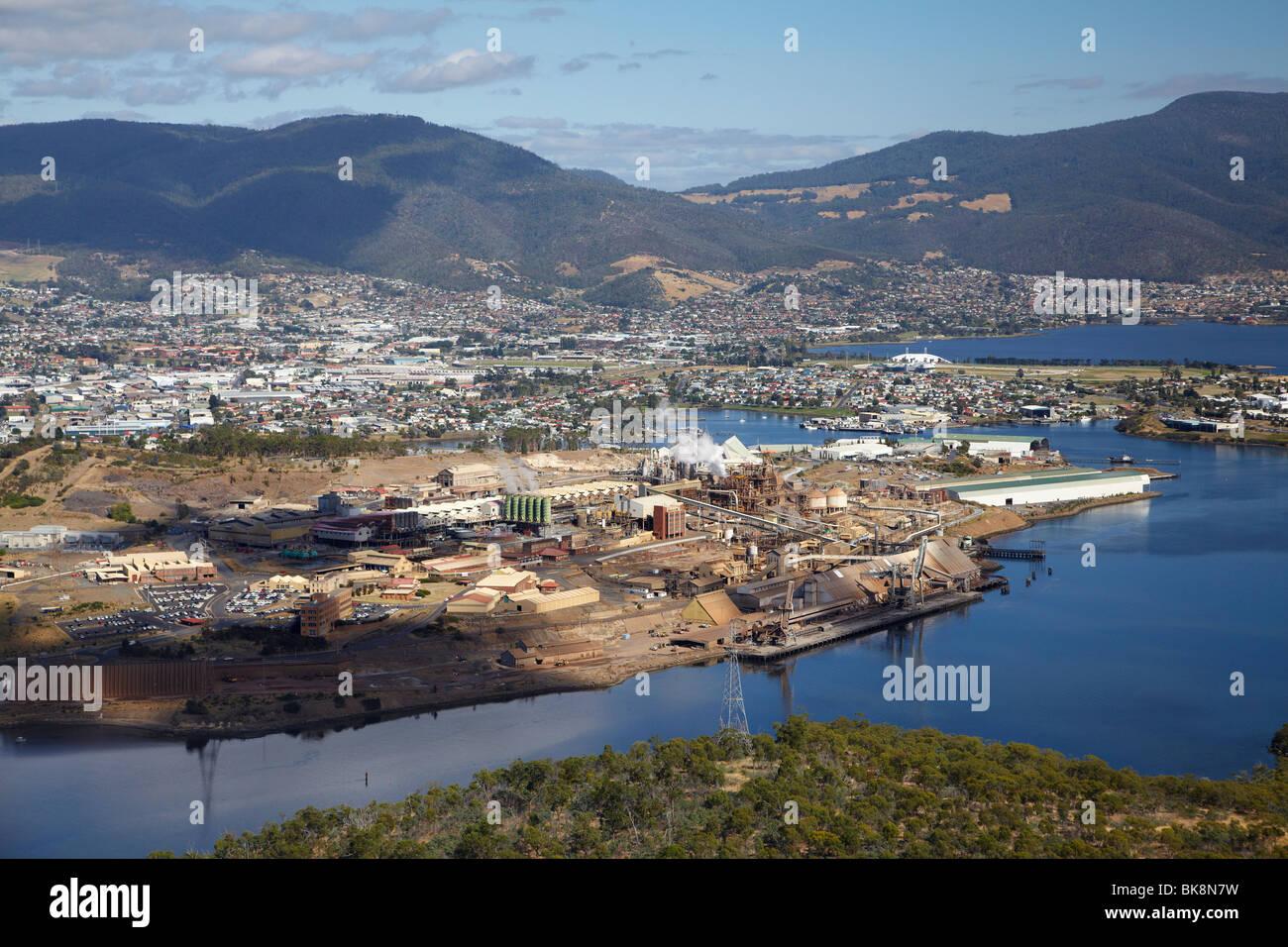Derwent Australia  City new picture : Nyrstar Zinc Smelter, River Derwent, Hobart, Tasmania, Australia Stock ...