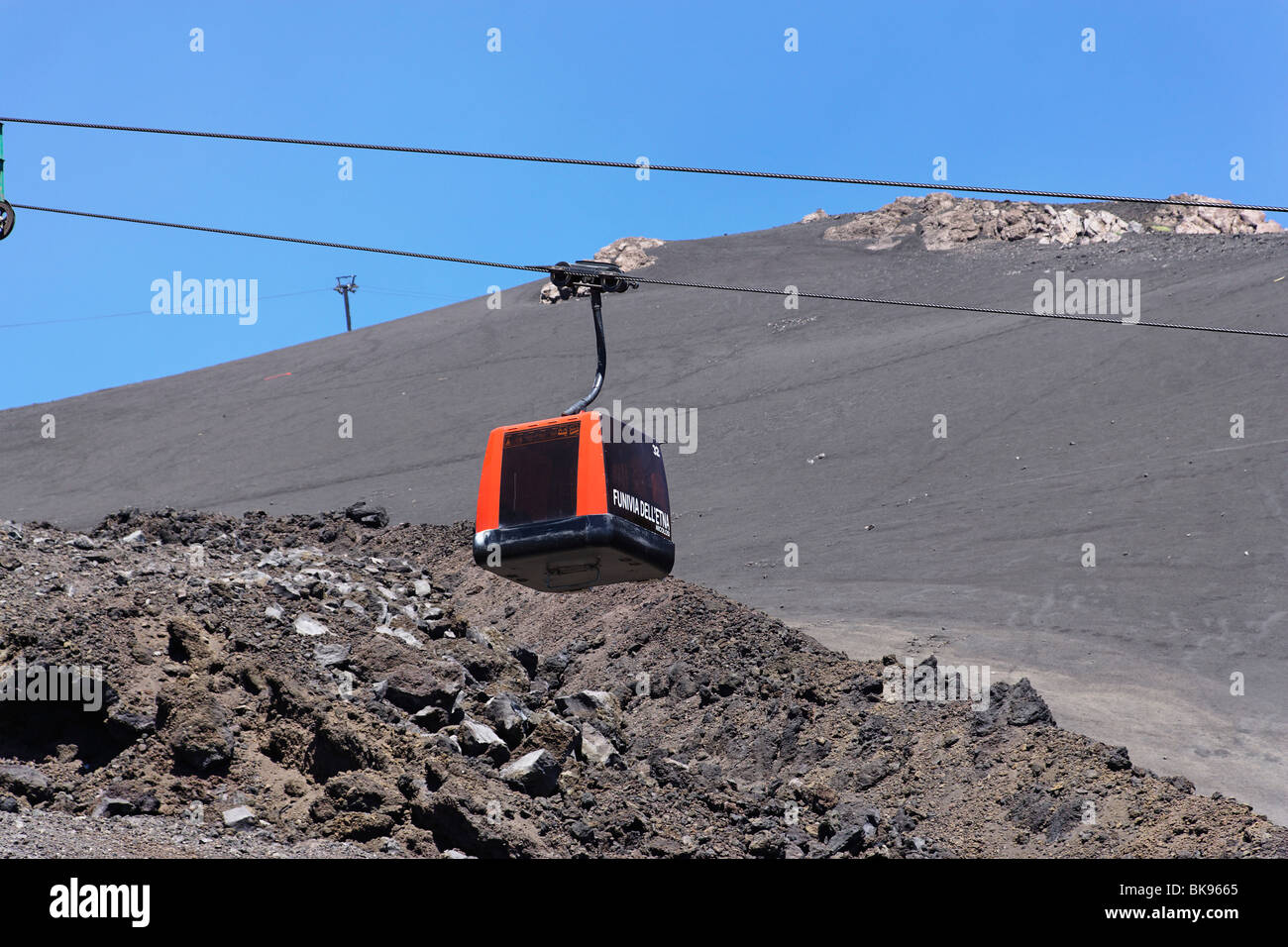 Cable Car To Mount Etna Sicily Italy Stock Photo Royalty Free