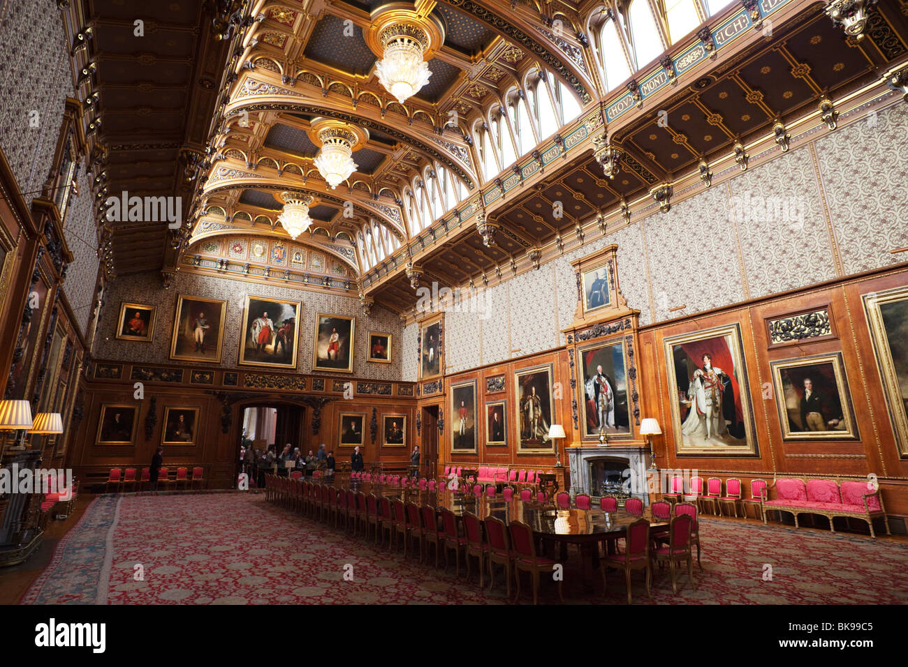 Interiors Of A Chamber Waterloo Chamber Windsor Castle Windsor And Stock Photo Royalty Free