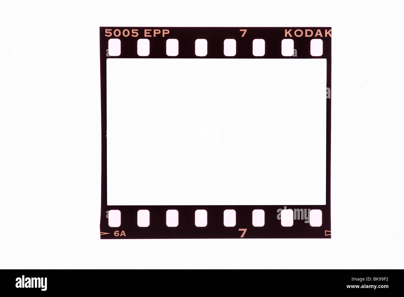 35mm film strip frame cut out stock image