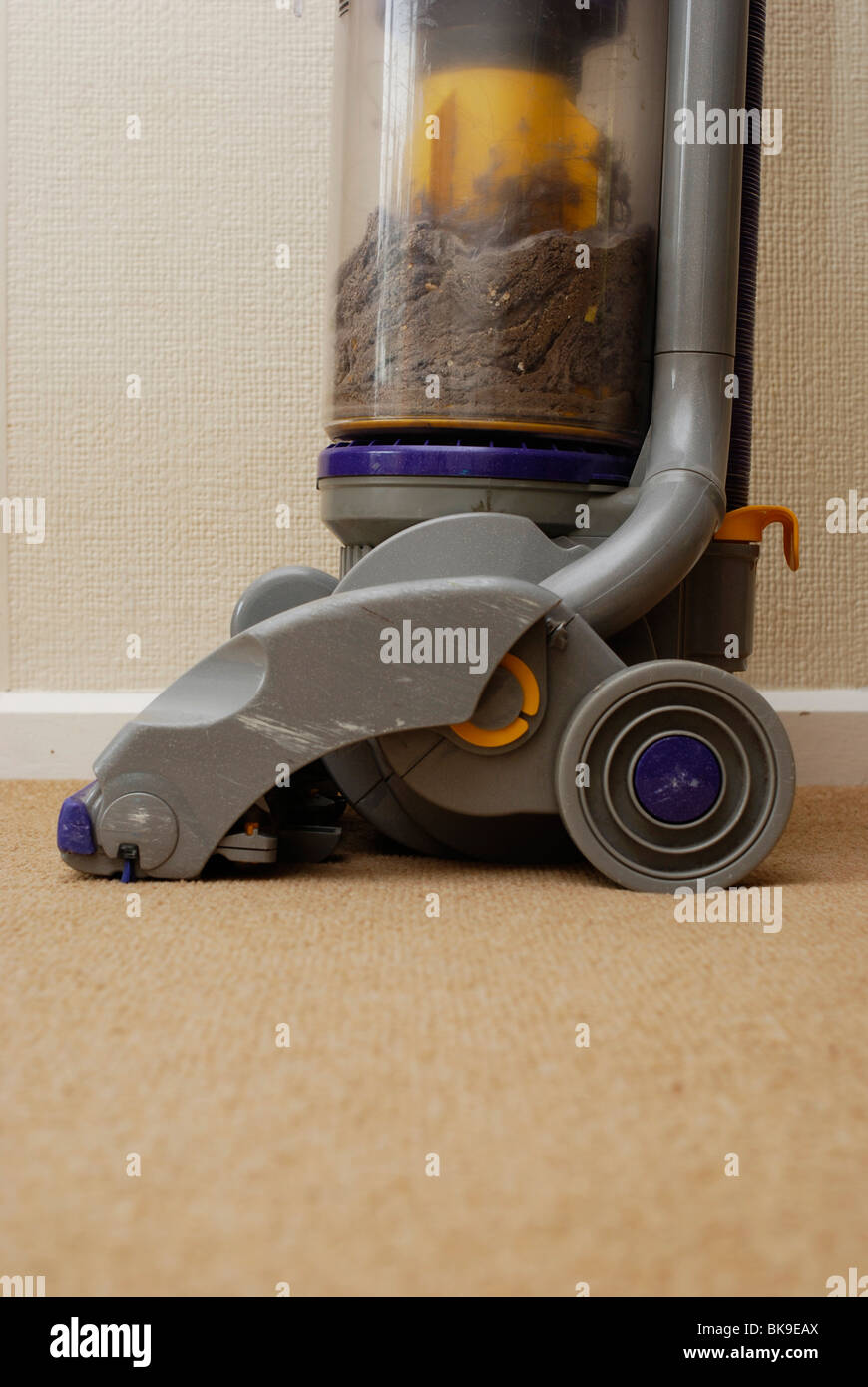 dyson upright vacuum cleaner on carpet