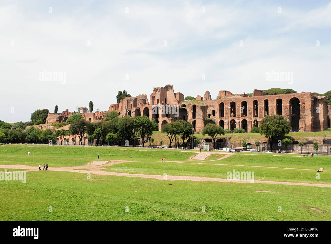 Ruins Of The Circus Maximus Imperial Palace On The
