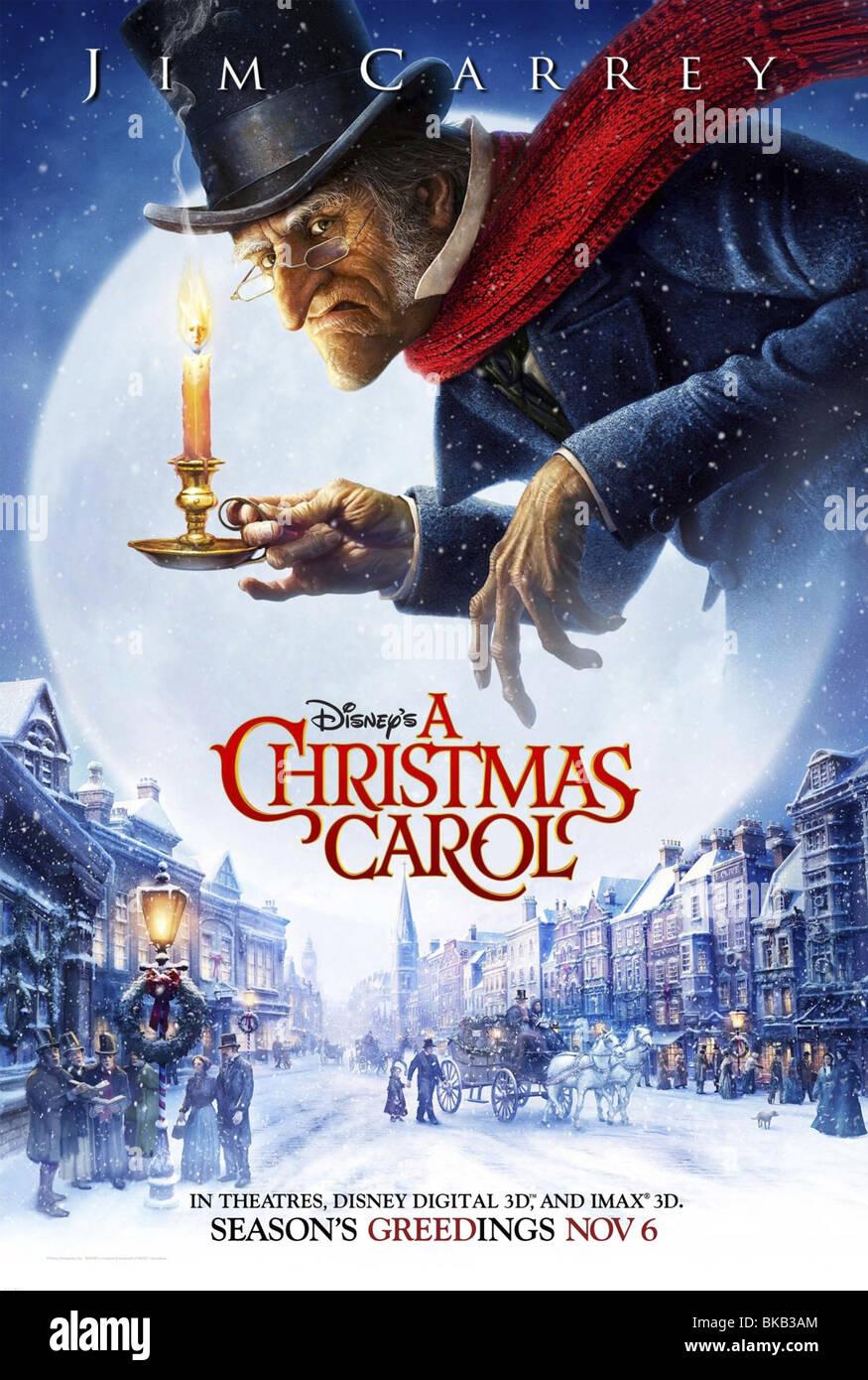 Disneys A Christmas Carol Year 2009 Director Robert Zemeckis Animation Movie Poster USA Based Upon Charles Dickens