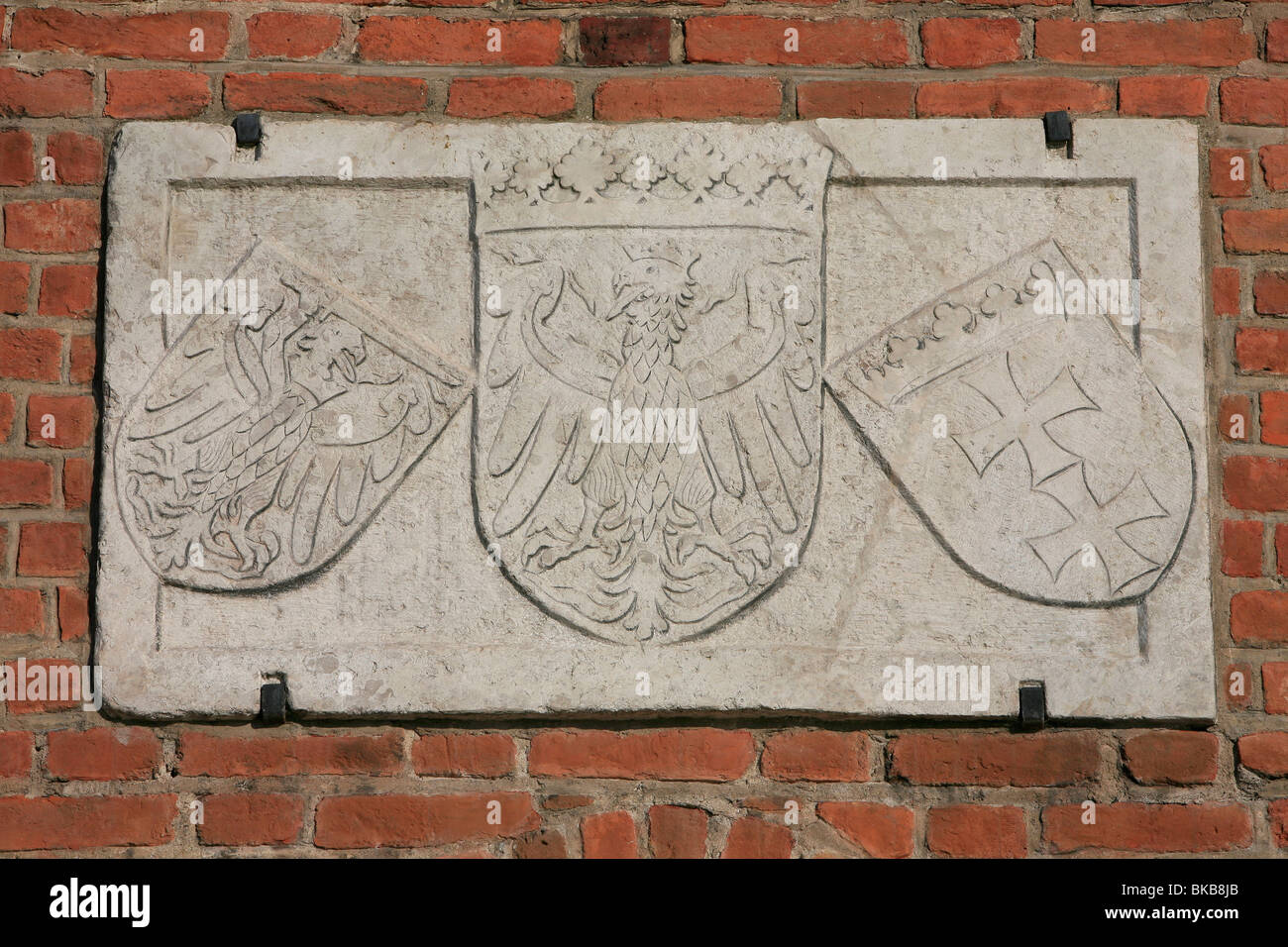 Polish Coat Of Arms Outside The Green Gate In Gdansk, Poland
