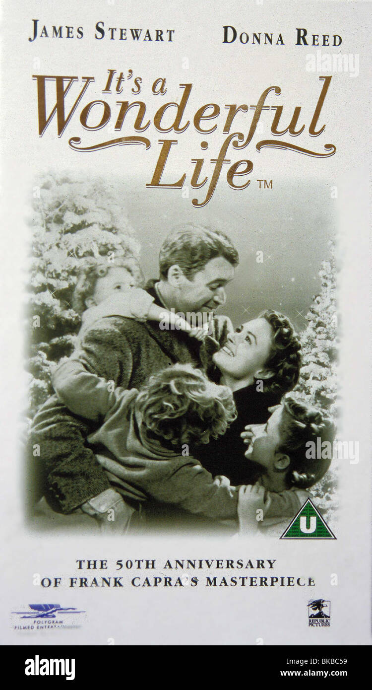 It 39 S A Wonderful Life 1946 James Stewart Donna Reed Poster Iwl 057 Stock Photo Royalty Free