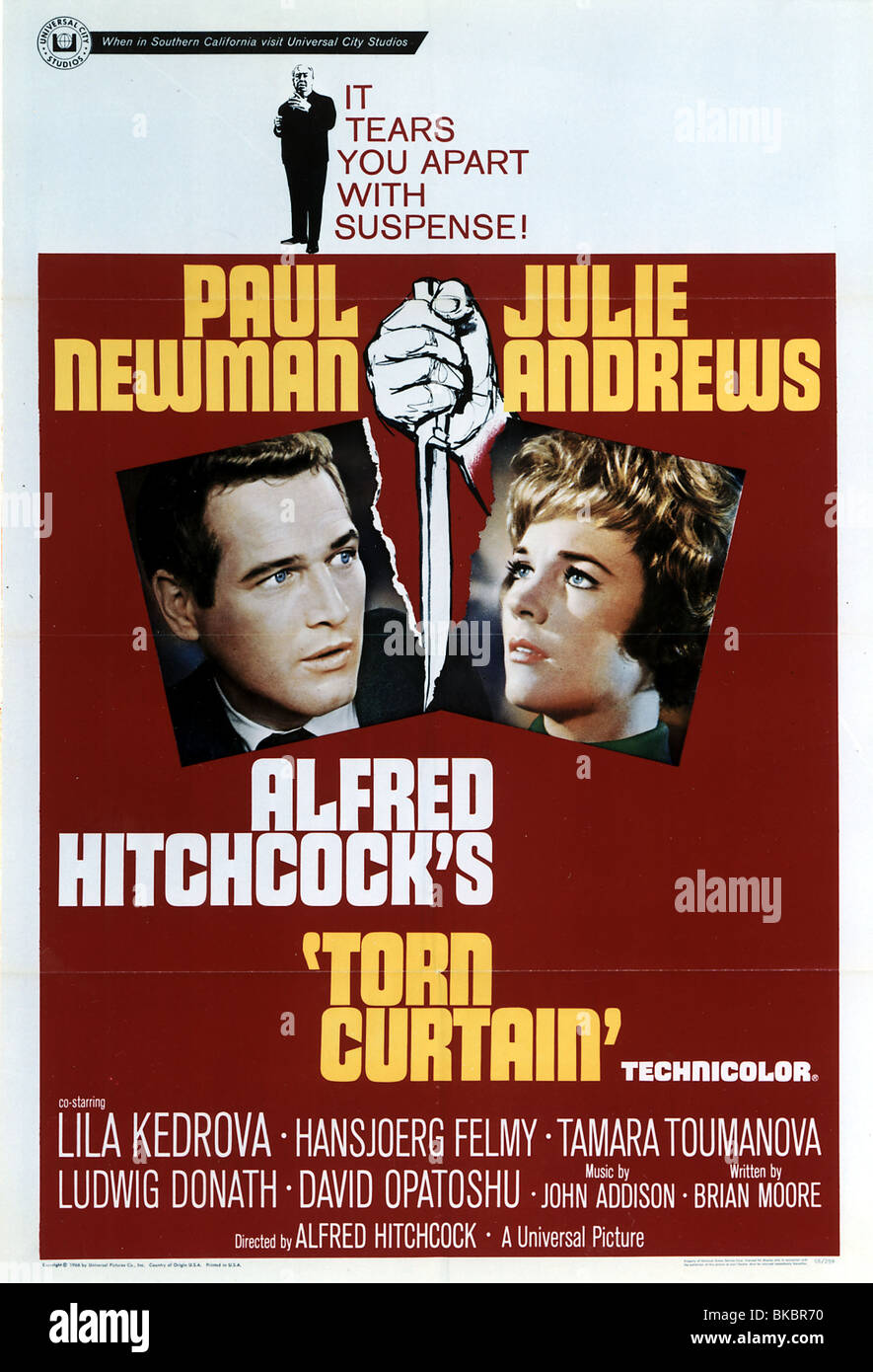Torn curtain julie andrews - Stock Photo Torn Curtain 1966 Paul Newman Julie Andrews Poster Trct 001cp