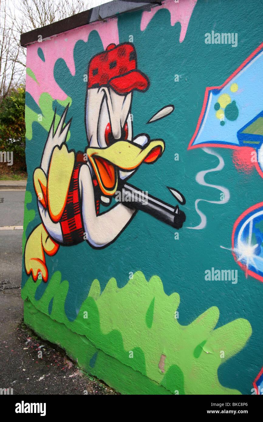 The walt disney company stock photos the walt disney company donald duck is an american cartoon character the walt disney company as seen in the graffiti biocorpaavc Choice Image