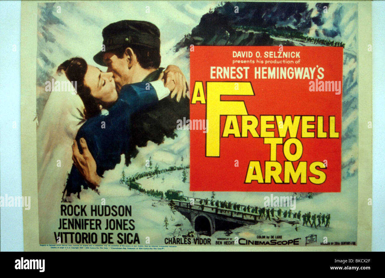 A FAREWELL TO ARMS -1957 POSTER Stock Photo, Royalty Free ... A Farewell To Arms Movie Poster