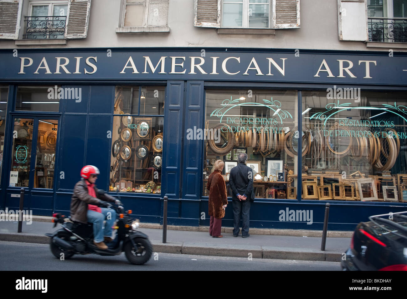 picture framing store in latin quarter paris american art outside storefront