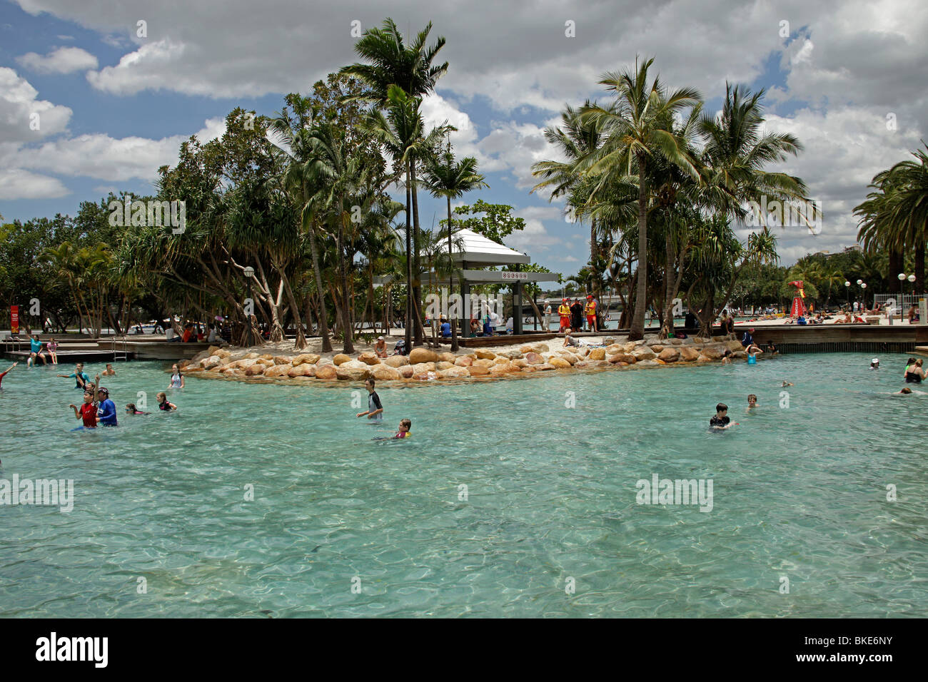 Man made beach and pool streets beach on south bank in for Pool home show brisbane