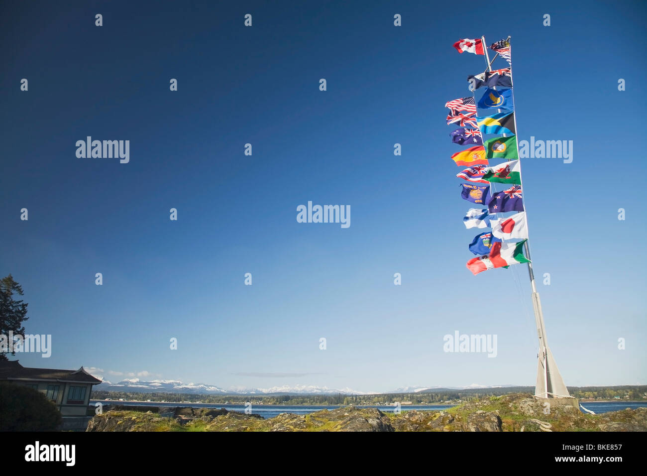International Flags, Campbell River, British Columbia, Canada