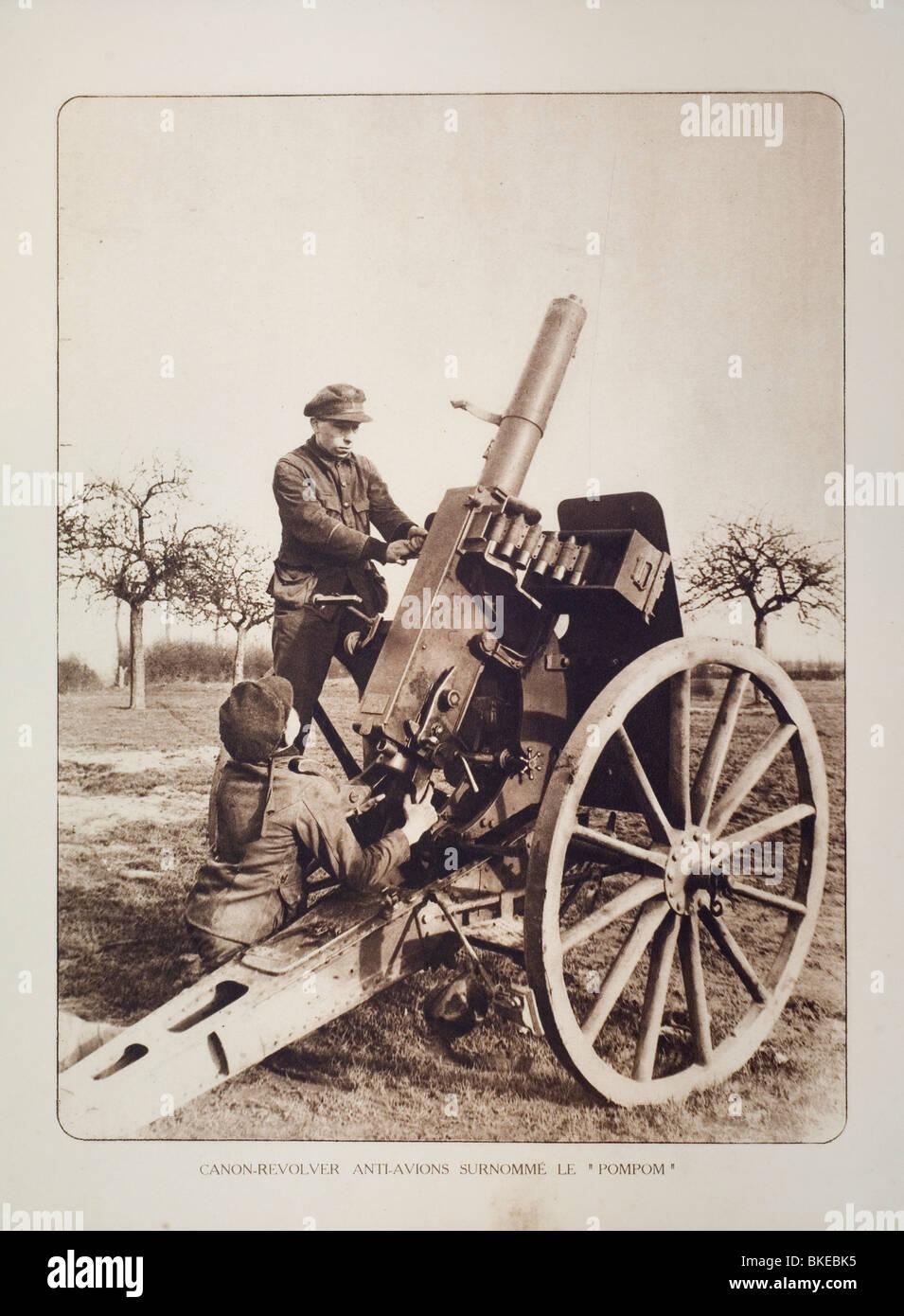 artillery and machine guns ww1