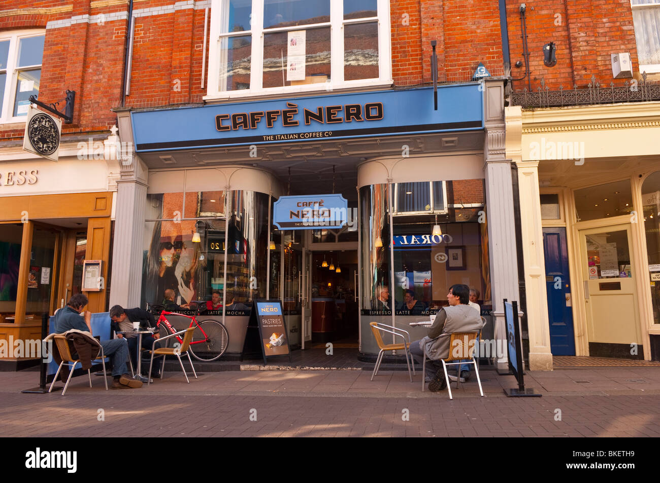 The caffe nero coffee shop cafe in bury saint edmunds for British house store