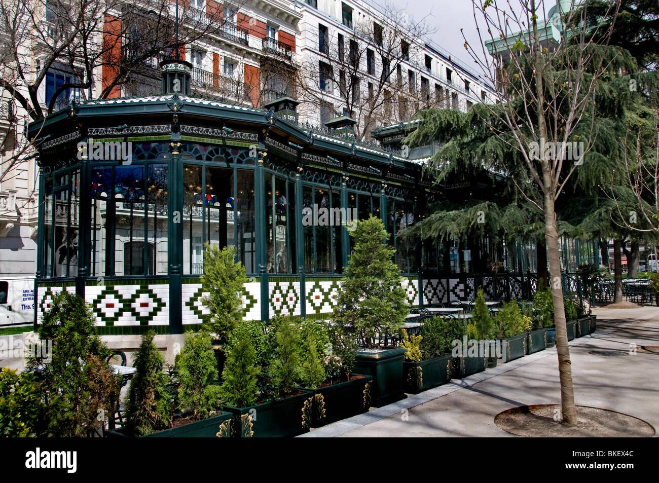 El pabellon del espejo paseo de recoletos 31 madrid for Cafe el jardin madrid