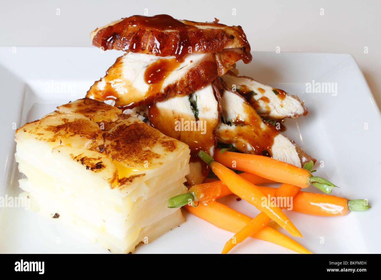 chicken dish chicken layered potato carrots wedding
