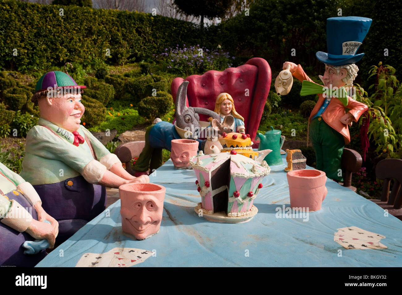 Alice In Wonderland Storybook Garden Hunter Valley Gardens Stock