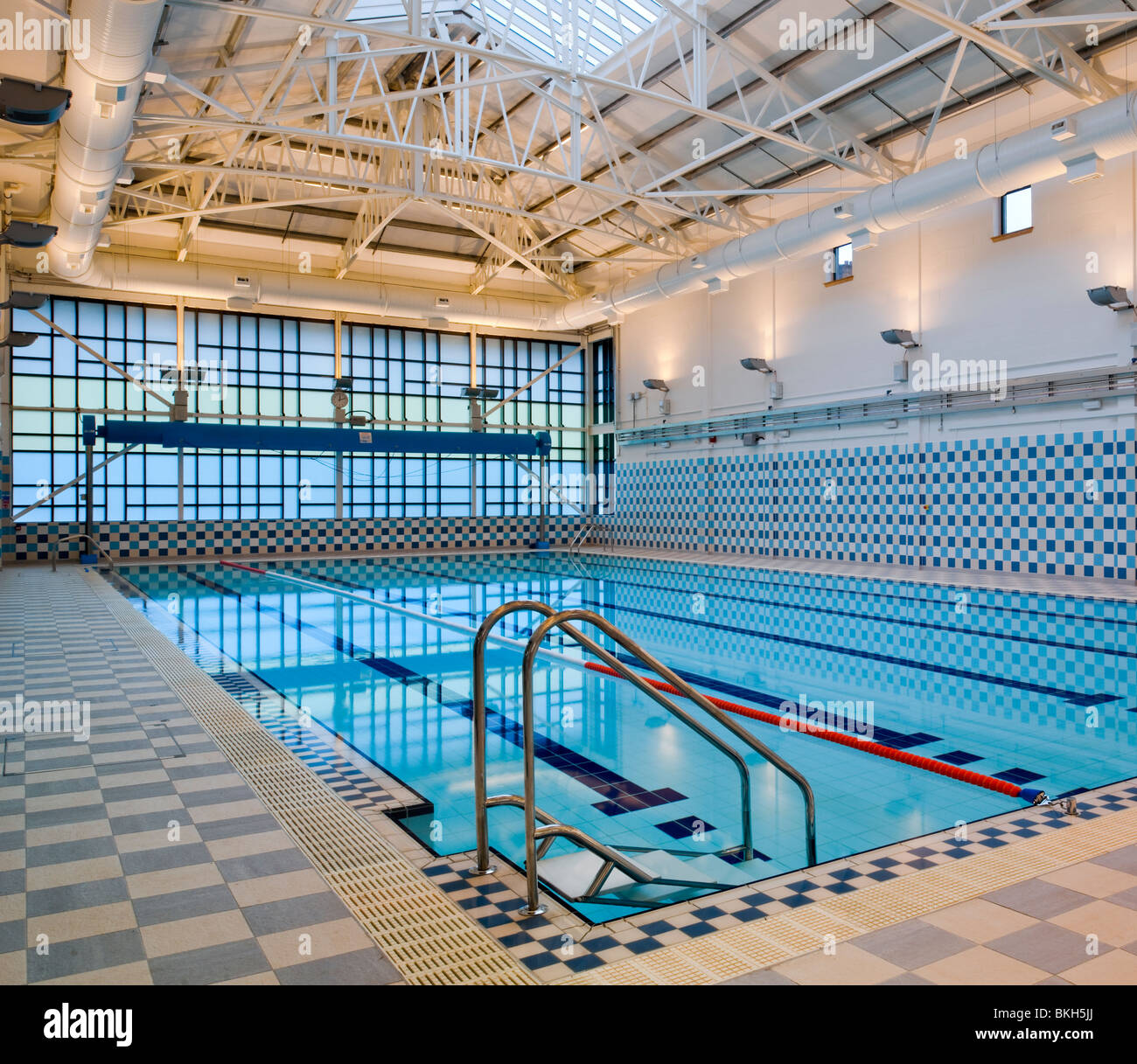Indoor Public Swimming Pool swimming pool at maryhill leisure centre, glasgow stock photo