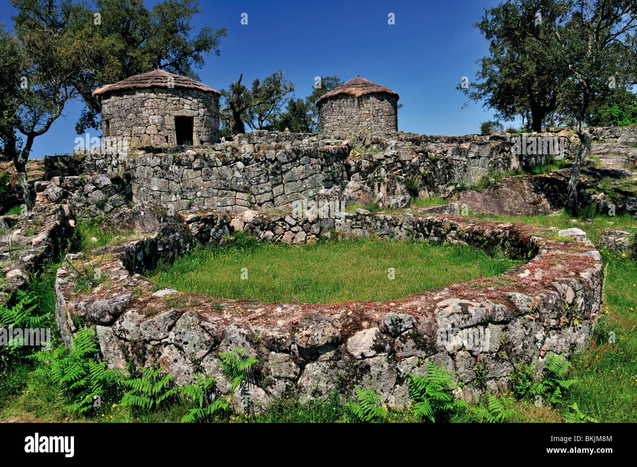 Portugal: Celtic ruins of Citania de Briteiros near Braga ...