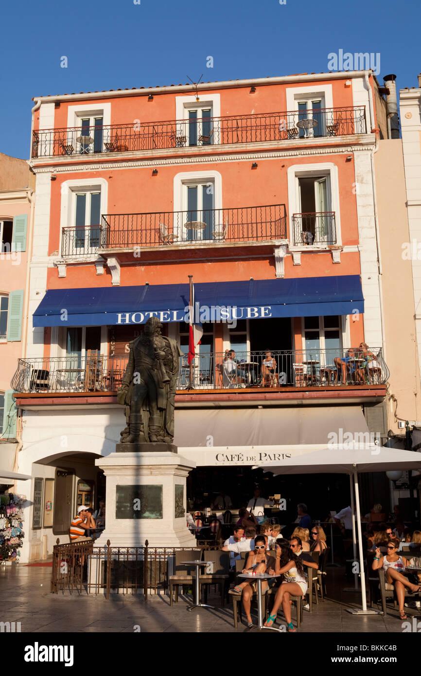 Hotel Sube Small Fancy In Face Of The Port Saint Tropez Over Famous Bar Cafe De Paris Var Cote DAzur France