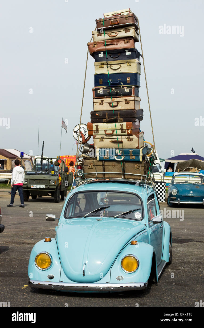 Volkswagen Beetle Overloaded With Suitcases At The Big