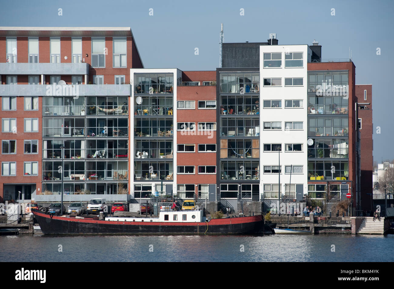 Modern apartment buildings in java island district of for Architecture firm amsterdam