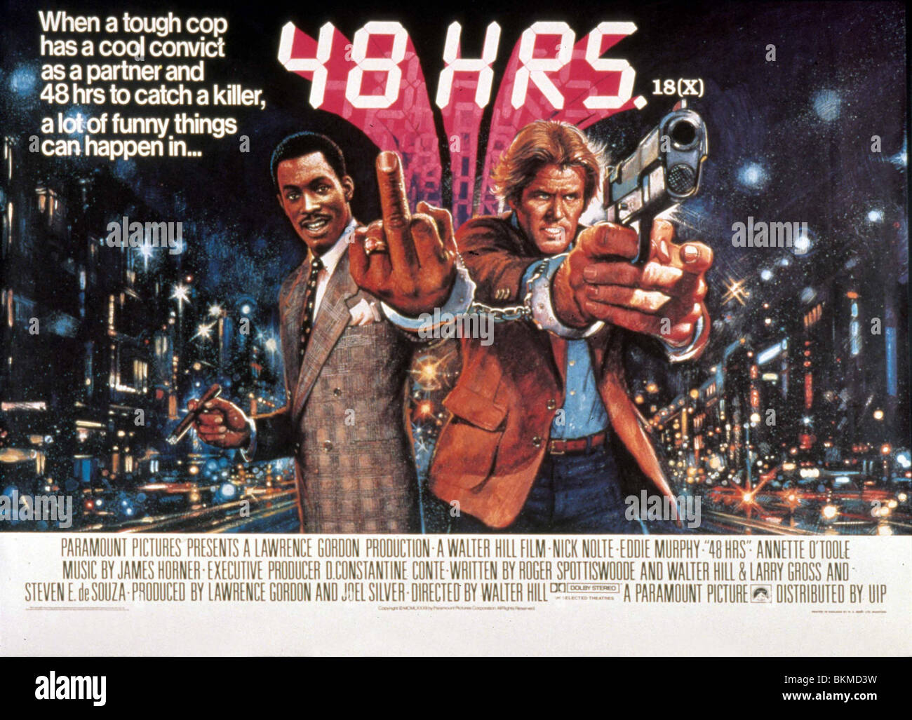 48 hours 1982 poster stock photo royalty free image