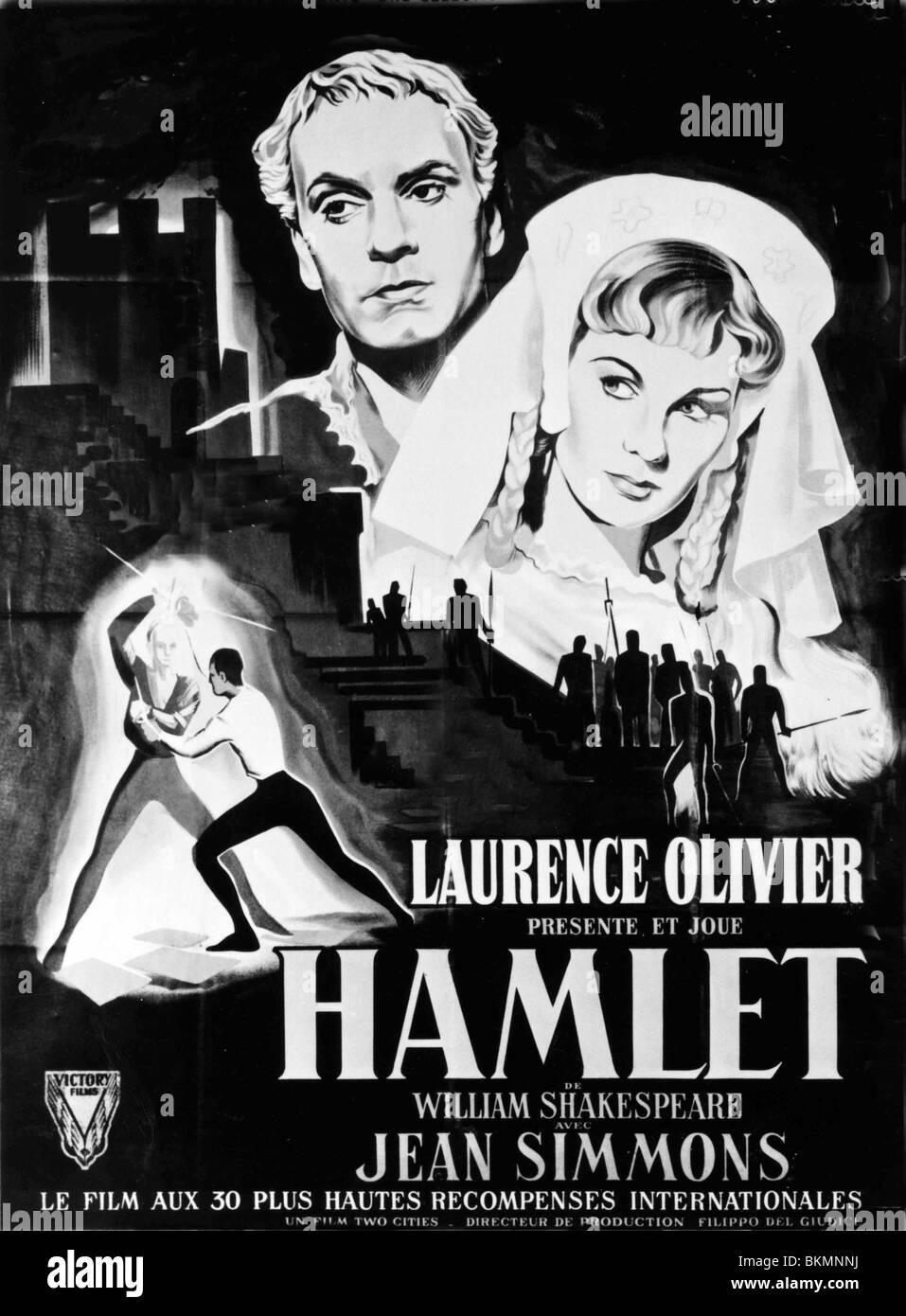 HAMLET (1948) POSTER LAURENCE OLIVIER (DIR) HMLT 012P ...