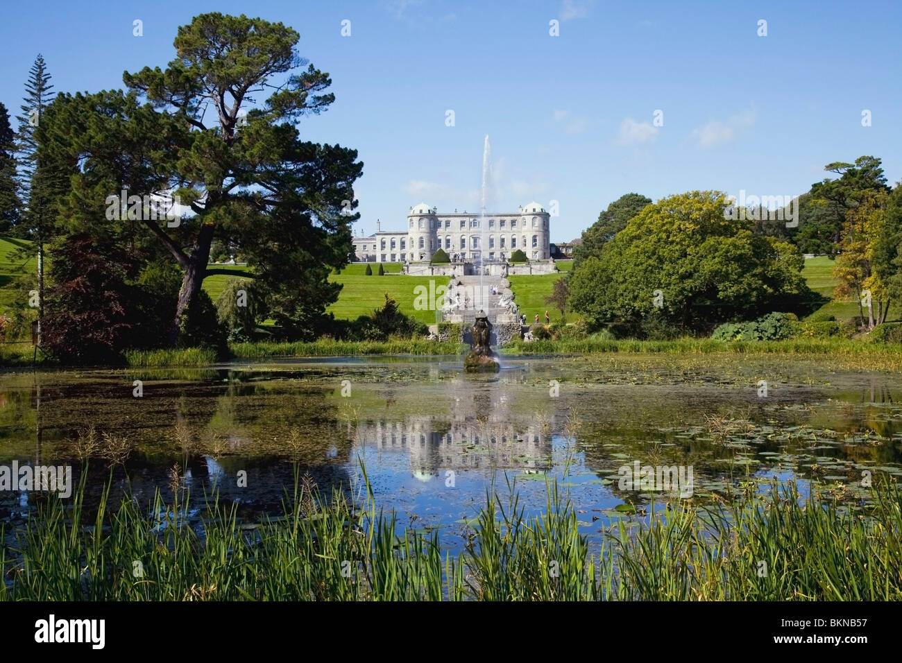 Enniskerry County Wicklow Ireland Powerscourt House And Gardens Stock Photo Royalty Free