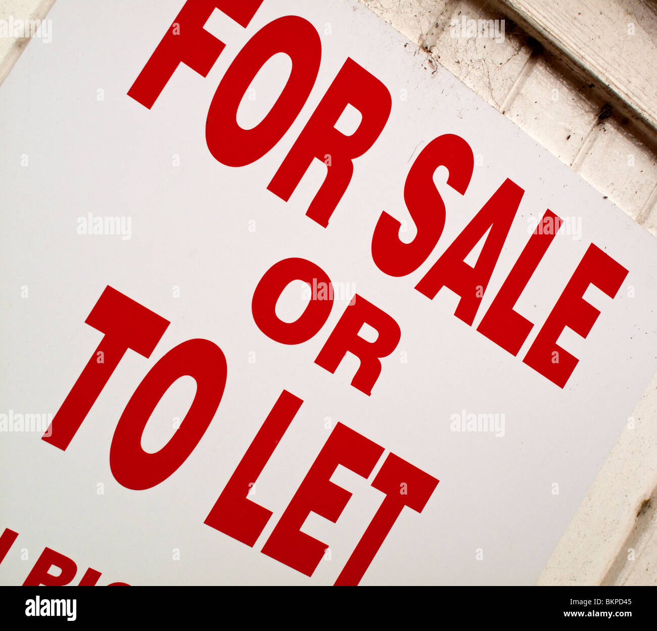 Sign Letters For Sale For Sale Or To Let Sign With Red Letters Against A White