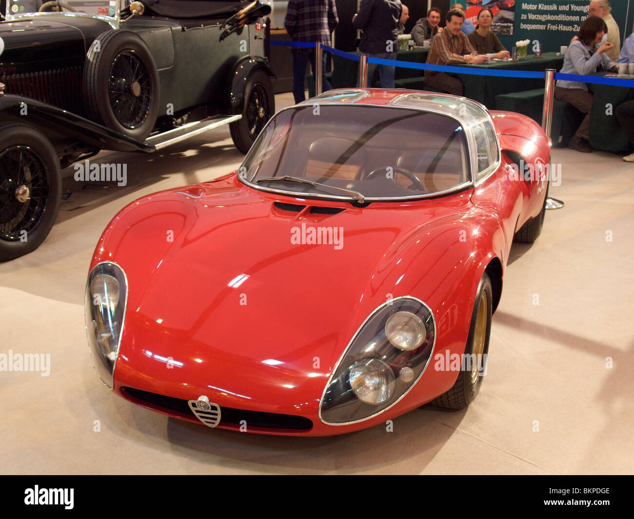 very rare alfa romeo tipo 33 stradale t33 on auction at techno stock photo royalty free image. Black Bedroom Furniture Sets. Home Design Ideas
