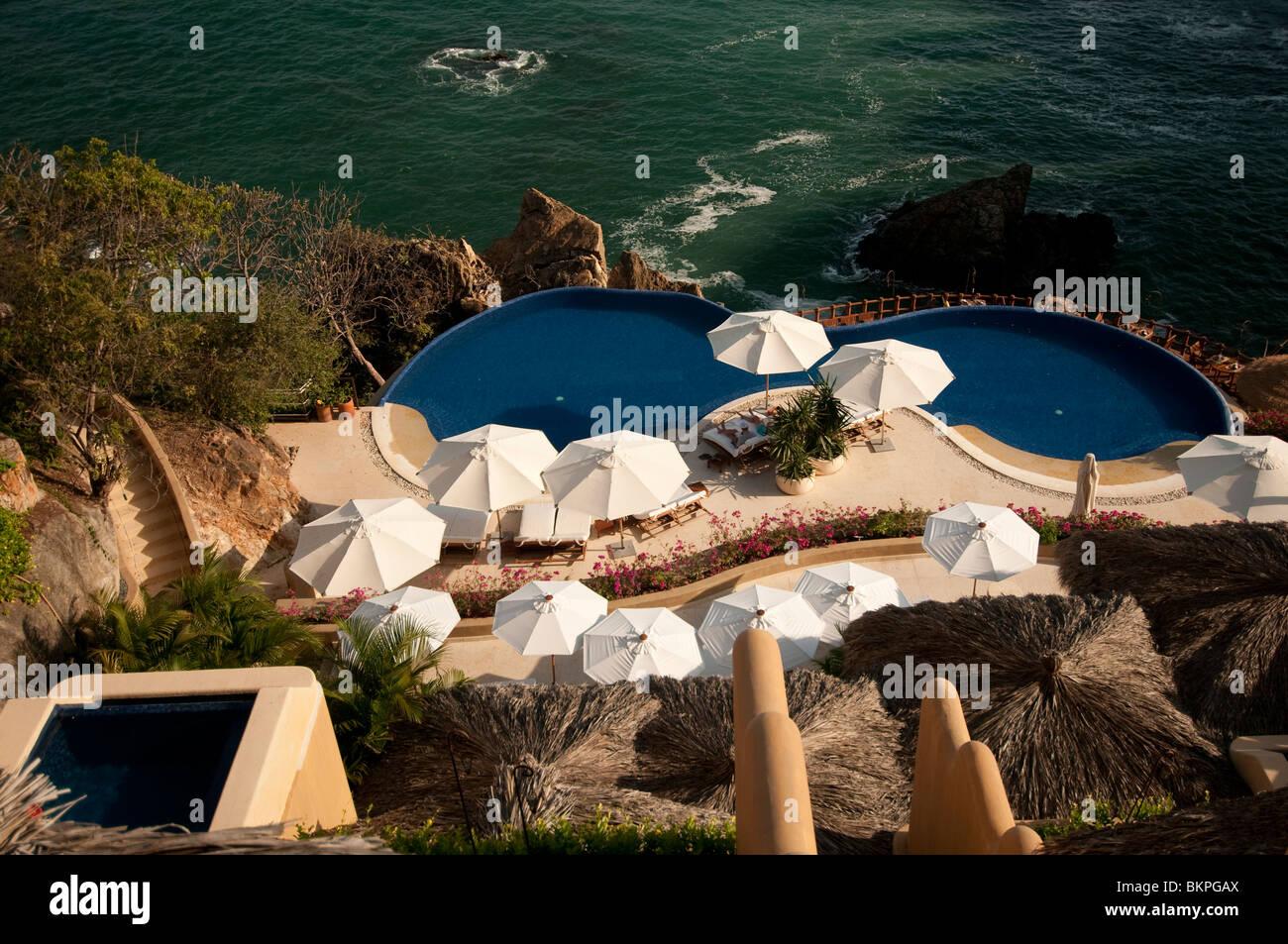 Capella Ixtapa Luxury Hillside Resort Hotel Overlooking