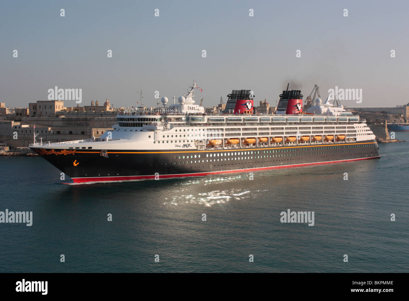 The Cruise Ship Disney Magic Departing From Malta Stock Photo - Pictures of the disney magic cruise ship