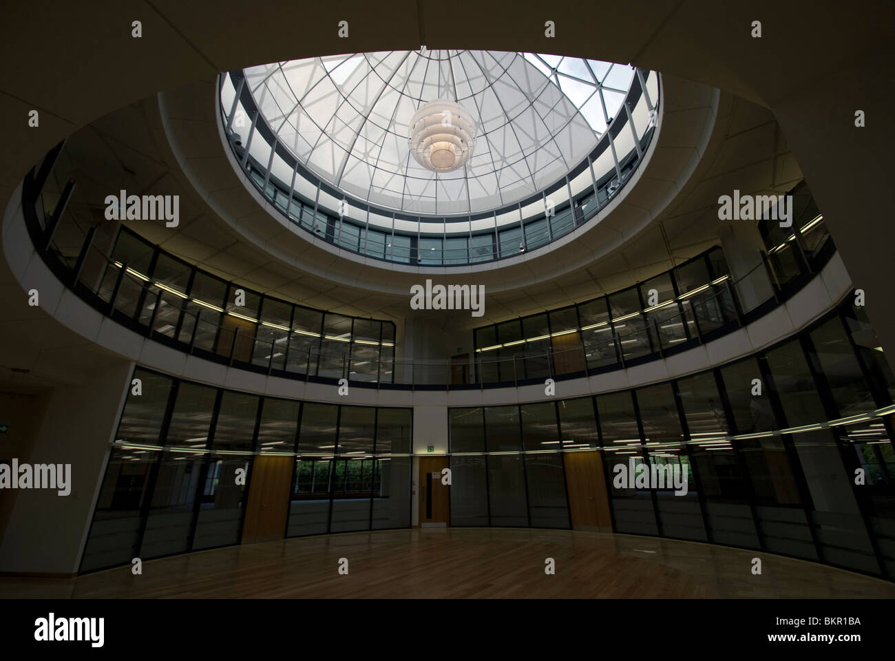 Large dome skylight in the redeveloped tanfield office for Large skylight
