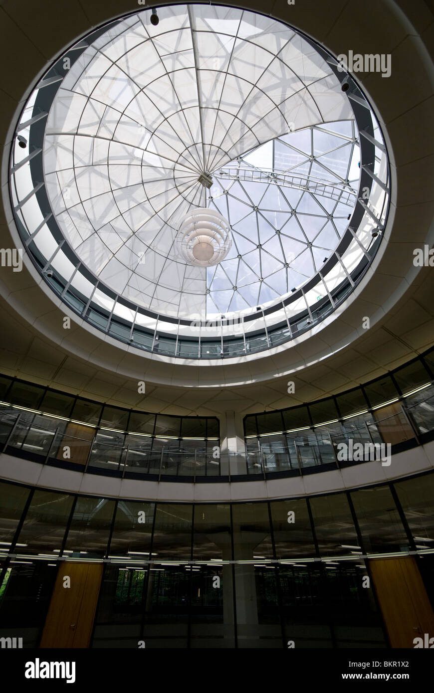 Large dome skylight in the redeveloped tanfield office for Large skylights