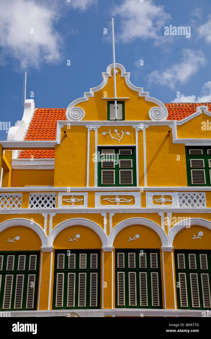 Dutch Colonial Architecture In Willemstad Curacao Netherland Antilles Caribbean