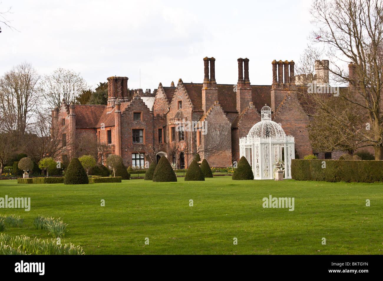 chenies manor, buckinghamshire, england stock photo, royalty free