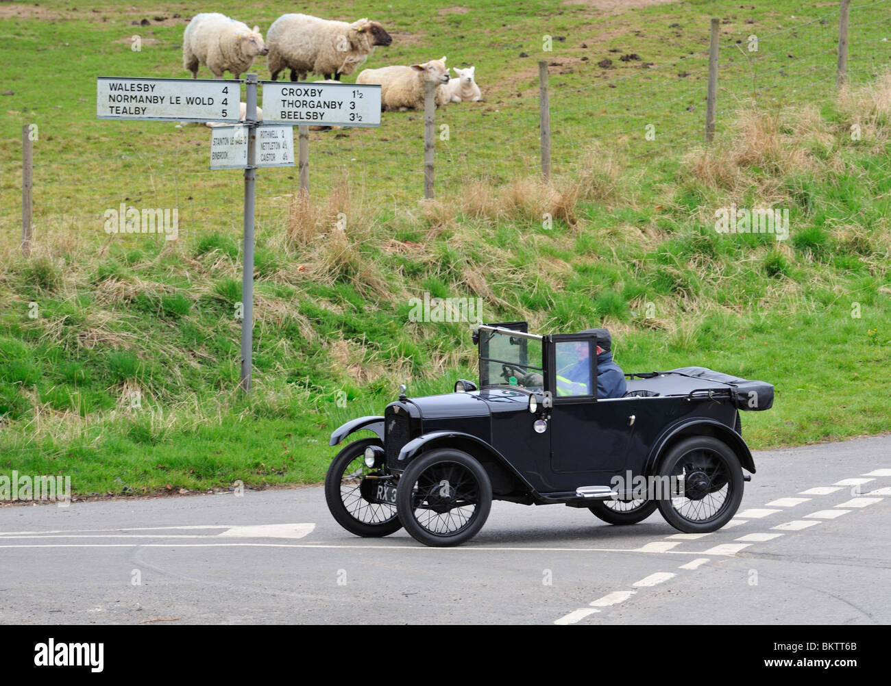 1928 Austin Seven Chummy. Vintage Cars ON THE OPEN ROAD Stock Photo ...
