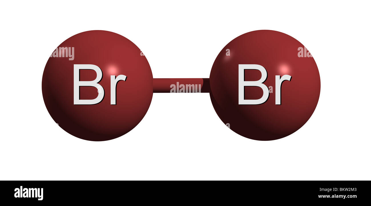 Bromine Molecule Br2 Stock Photo, Royalty Free Image ...