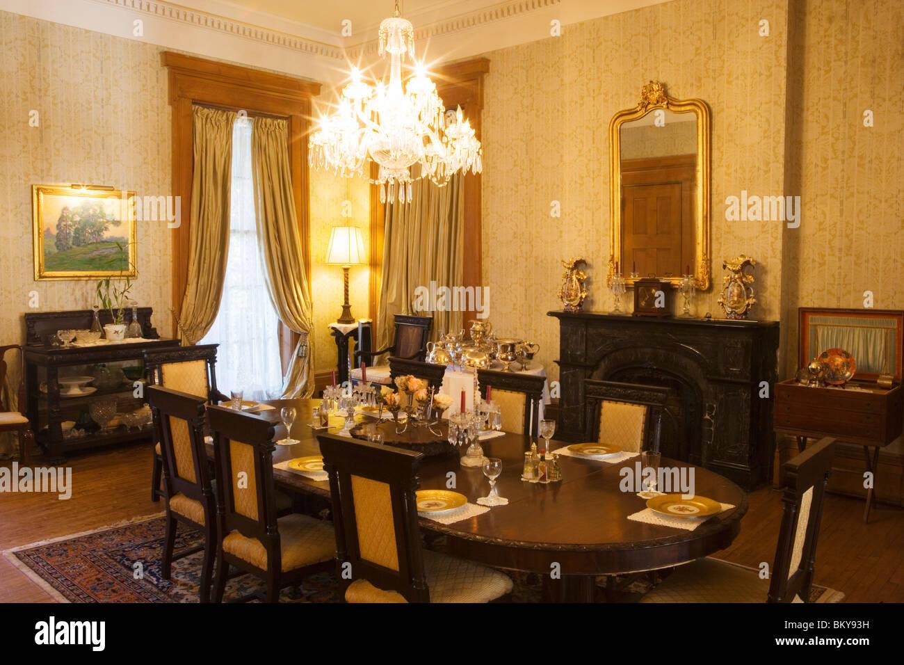 Dining Room In The Madewood Plantation N Napoleonville Louisiana USA