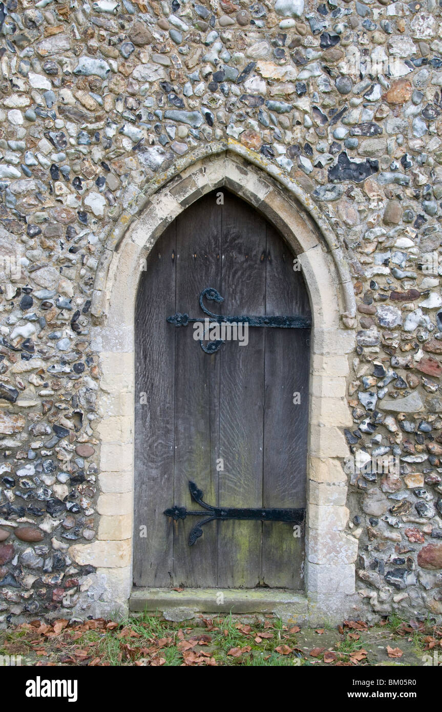 Gothic Arch Door In St Mary The Virgin Church Rushall Norfolk