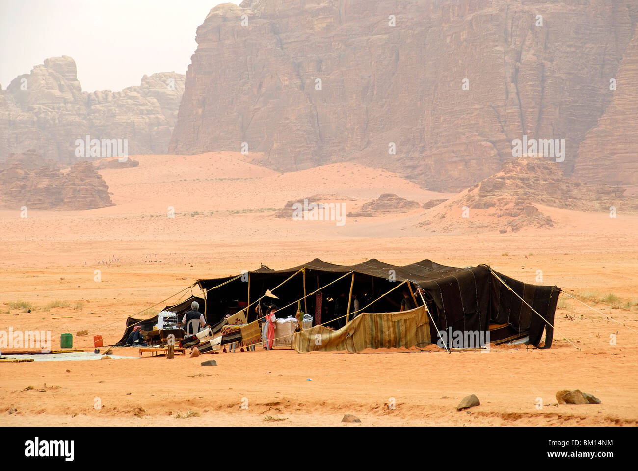 Bedouin tent Wadi Rum Jordan Asia Middle East & Bedouin tent Wadi Rum Jordan Asia Middle East Stock Photo ...