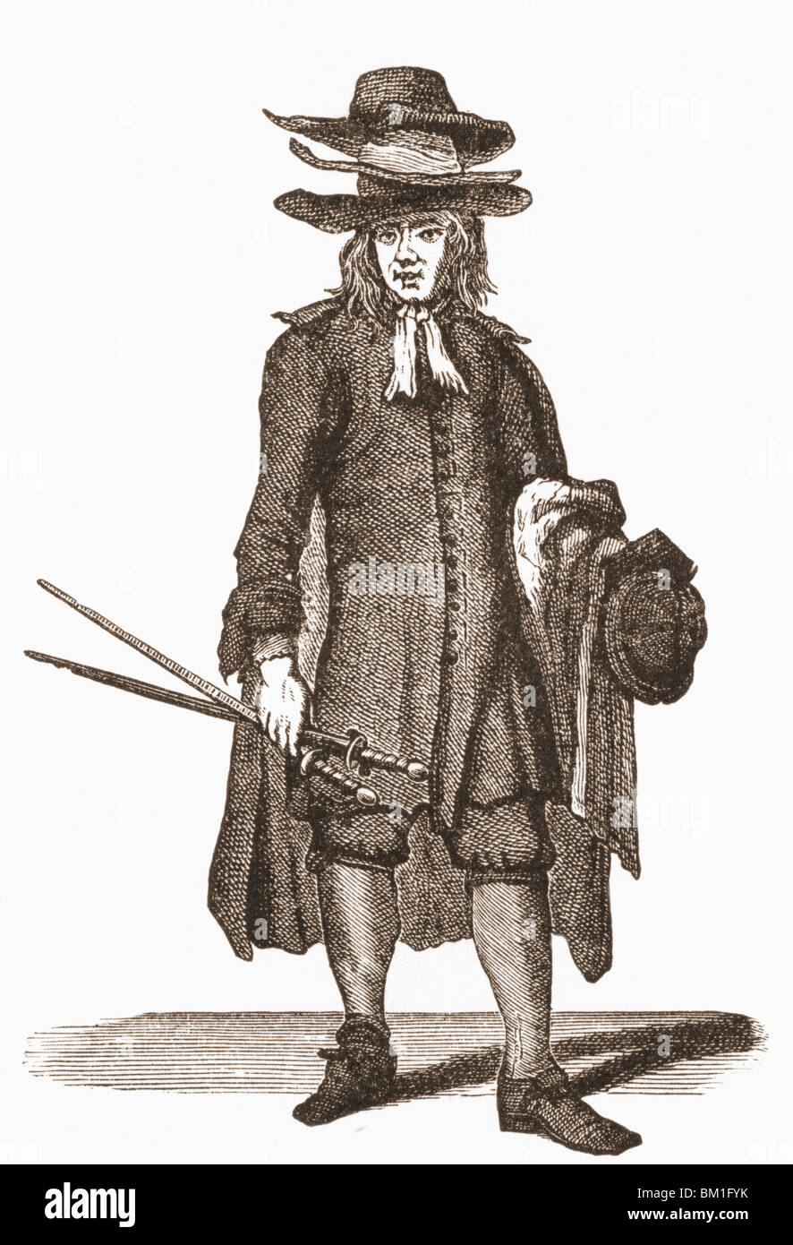 18th century street trader selling old cloaks, suits,coats,hats ...