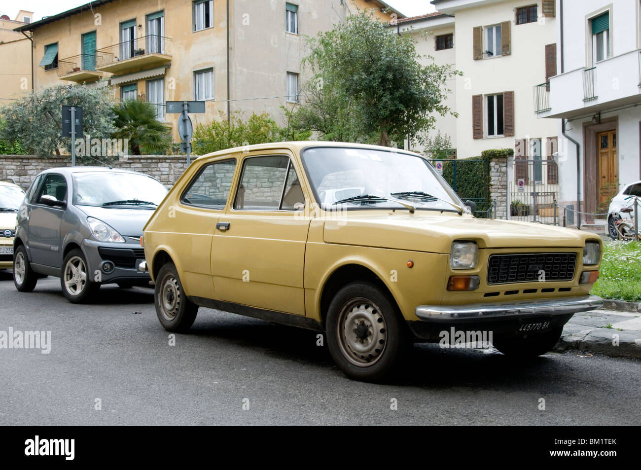 fiat 127 small city car old tiny italian cars maker makers Stock ...